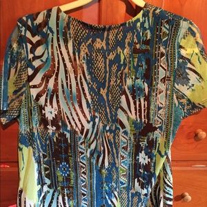 Tribal v neck blouse